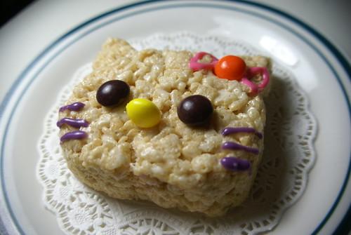 Hello Kitty Rice Krispy Treat