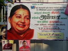 Jayalalithaa'a Poster, Chennai 2