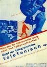 Piet Zwart. Afiche para PTT, 1932.