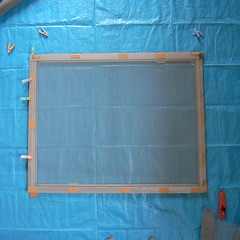 screen window maintenance #7 flattened screen on frame
