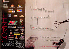 Afiche de Convocatoria III FENACO Cusco 2005