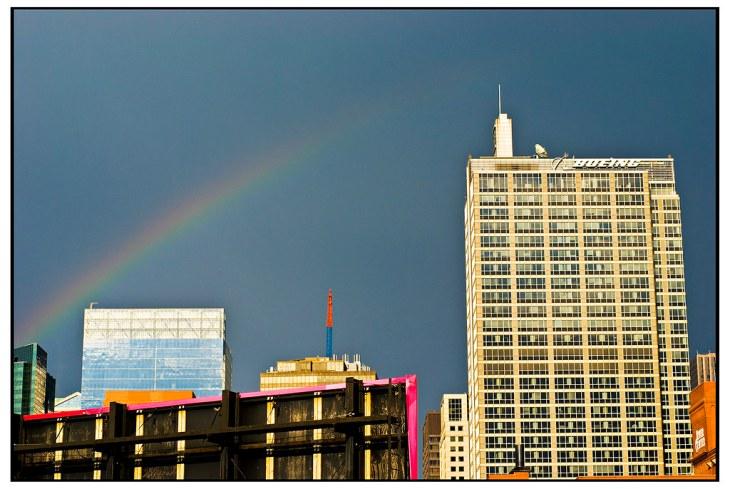 Rainbow over Boeing Building