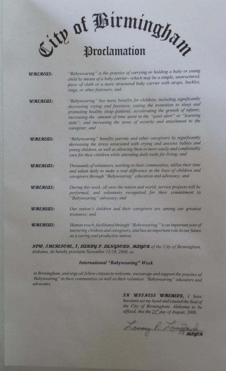 Birmingham Proclamation