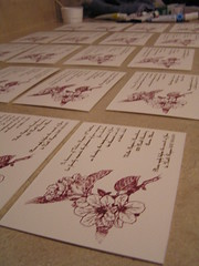 invitations drying