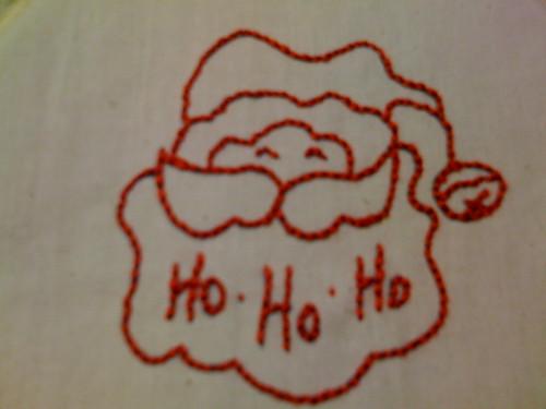Redwork Santa