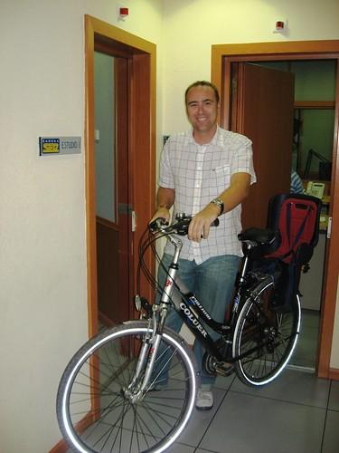 Jose Manuel Leon en la sede de la cadena Ser
