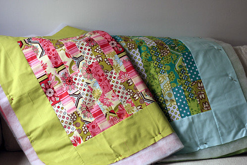 Baby quilts in the making