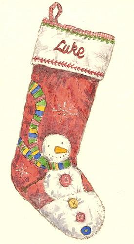 luke's xmas stocking