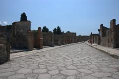 Strasse in Pompei