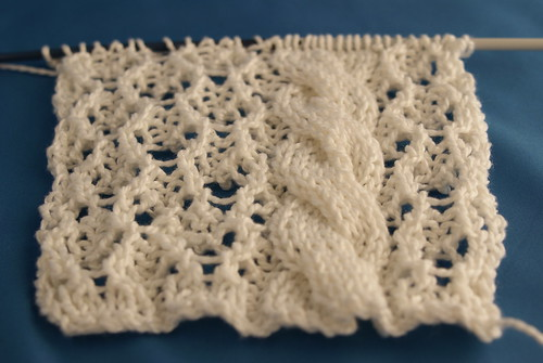 Swatch for Lace & Cable Top
