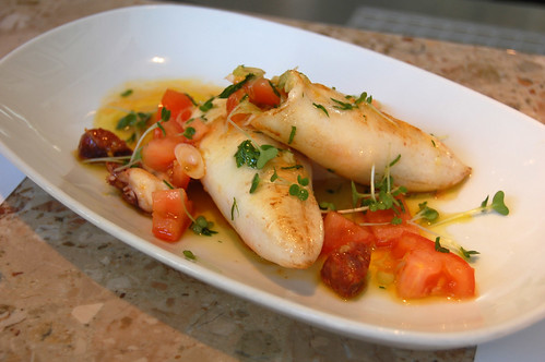 Grilled Squid Stuffed with Chorizo and Tomato