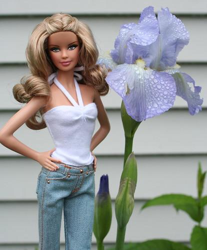 Barbie and the Irises