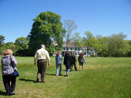 RASD Members walking to Floyd Estate