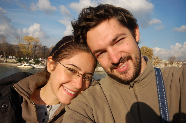 Me and Tenny by the Seine. Aaahhh.