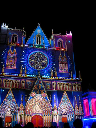 Colored Cathedral, my favorite light spectacle of the evening.