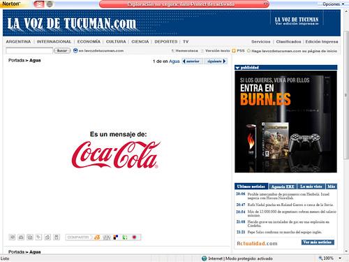 Coca-Cola pide que no malgastemos el agua