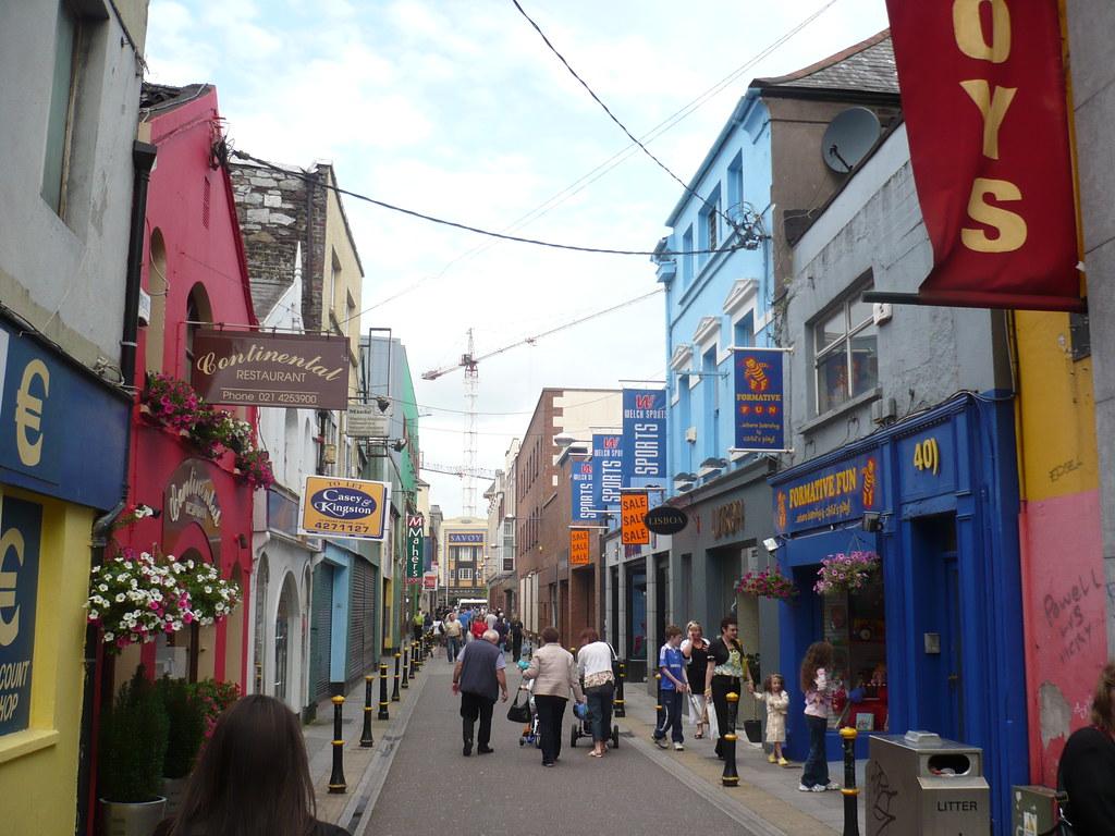 una calle del centro de Cork