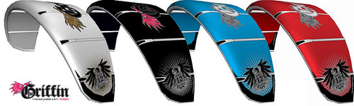 The griffin kiteboarding 2009 kite colours