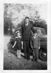 Granddaddy In Pinstripes, along with Mom and Uncle Jack, Augusta, Georgia, circa early 1940s, photo © 2008 by QuoinMonkey. All rights reserved.
