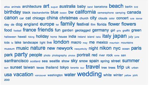 les tags les plus populaire version Flickr