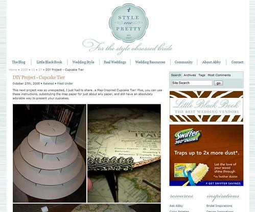 My cupcake tower on StyleMePretty.com!