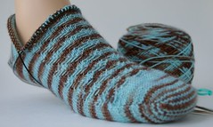 Heel on my Twisted Tweed sock #1