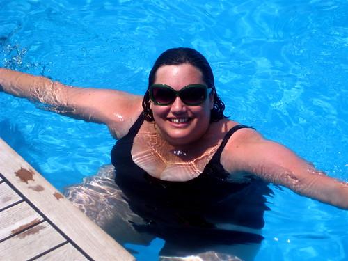 In the near-empty pool
