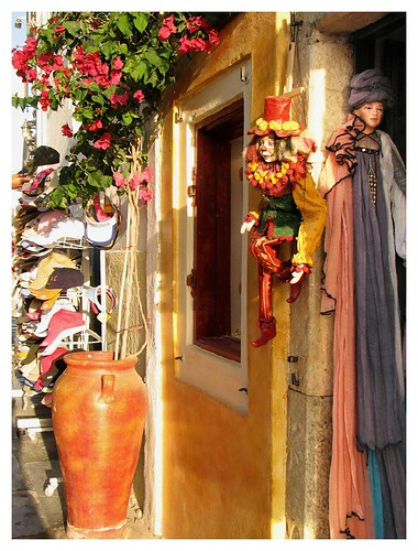 One of many shops in Oia, Santorini by you.