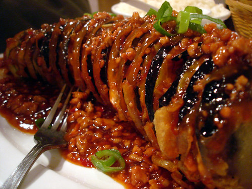 Sweet and Sour Aubergine Closeup