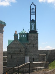"Observation tower, with an old-fashioned ""clock-like"" device..."