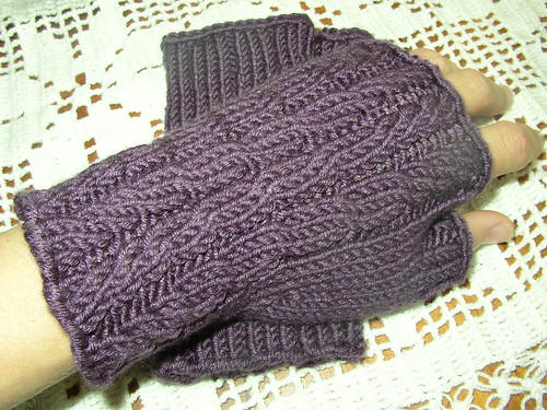almost easy mitts purple hand
