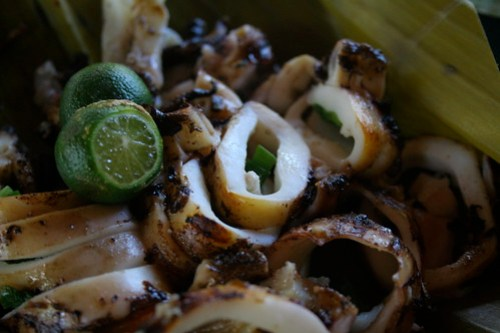 Grilled Squid at Liza's dampa