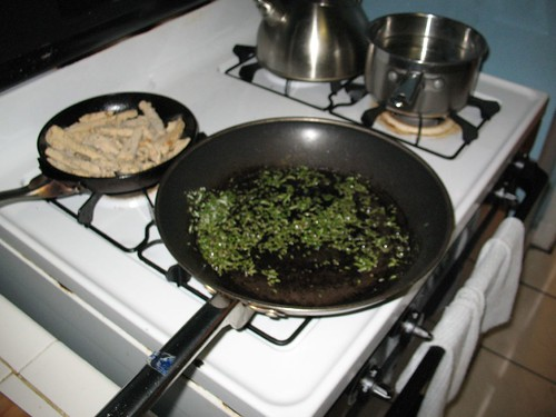 Pasta with Rosemary Cream Sauce - Step 1
