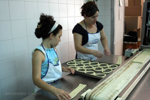 Mother and Daughter Forming the Scaldatelli in a Tarallificio