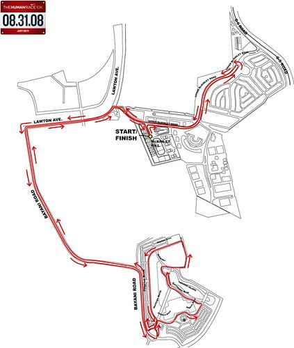 Nike10km race route