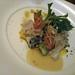 Ice Plant Salad with Live Kuruma Shrimp and Ika, with White Miso dressing