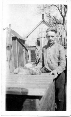 Man with rabbit