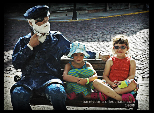 A Sea Captain and two girls