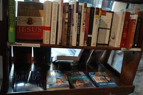 The Religion shelf in the bookshop