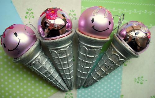 Kawaii Ice Cream Christmas Decorations