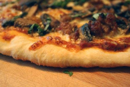 Sausage and Mushroom Pizza