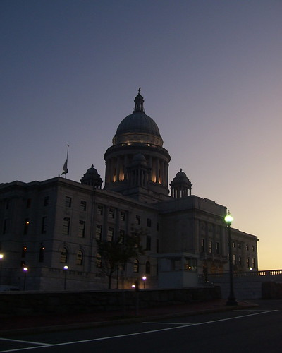 R.I. Statehouse at Dusk