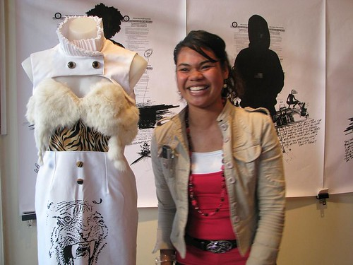 Ofa Mafis garment, Wild Angel featured in Manukau Citys Cult Couture fashion competition