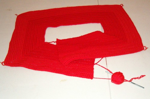 Crocheted cardi #1
