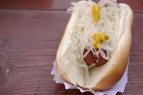 brat with sauerkraut