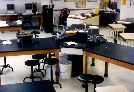 Oakville Junior High School Typical Lab Station