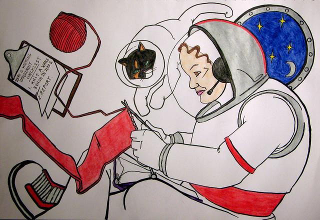 Knitting Astronaut!