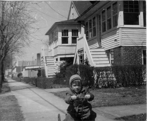 Ernie riding the Irish Mail down Harrisburg Ave.jpg