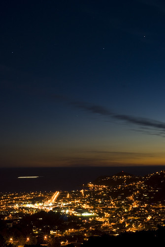 Looking out from Mount Victoria - a beautiful way to spend an evening