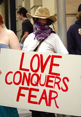 Love conquers fear